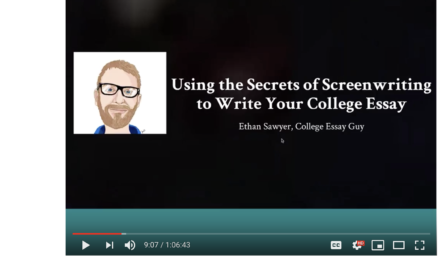 Secrets from a college essay wizard: how to treat your essay like a screenplay